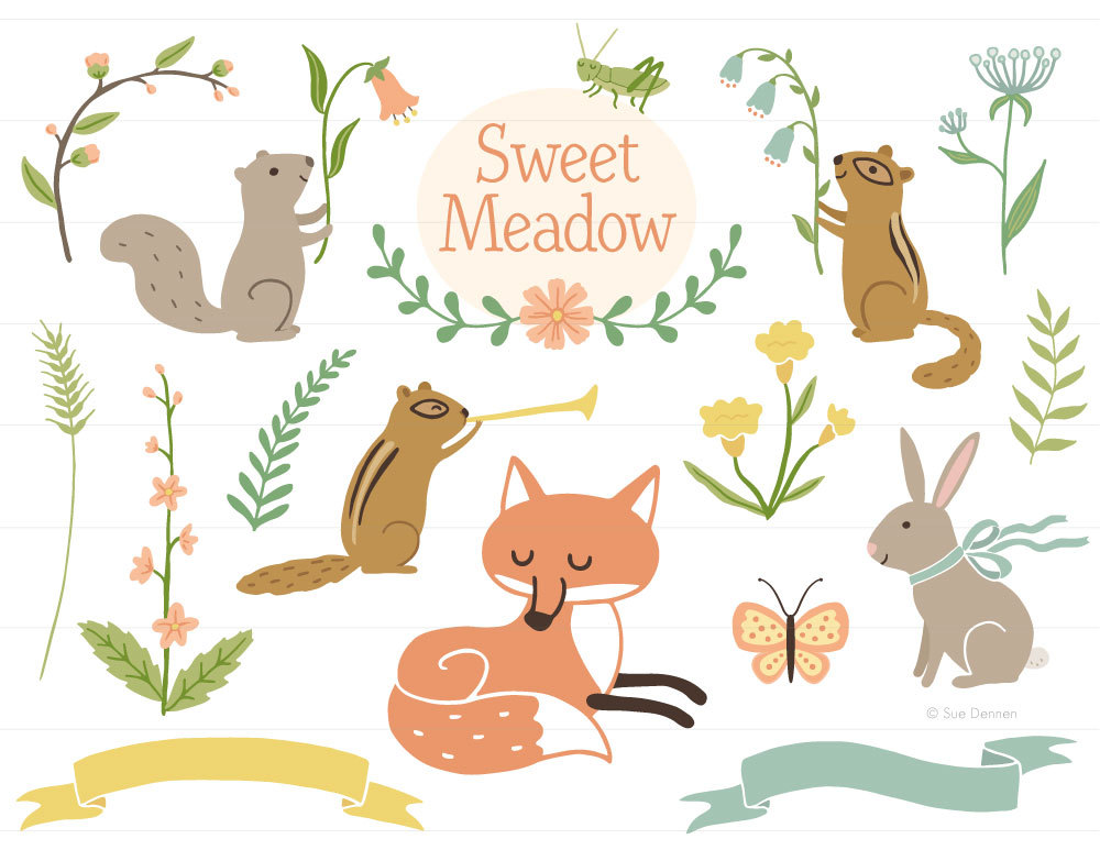 Baby Animal clipart woodland Clip birth clipart Woodland fox