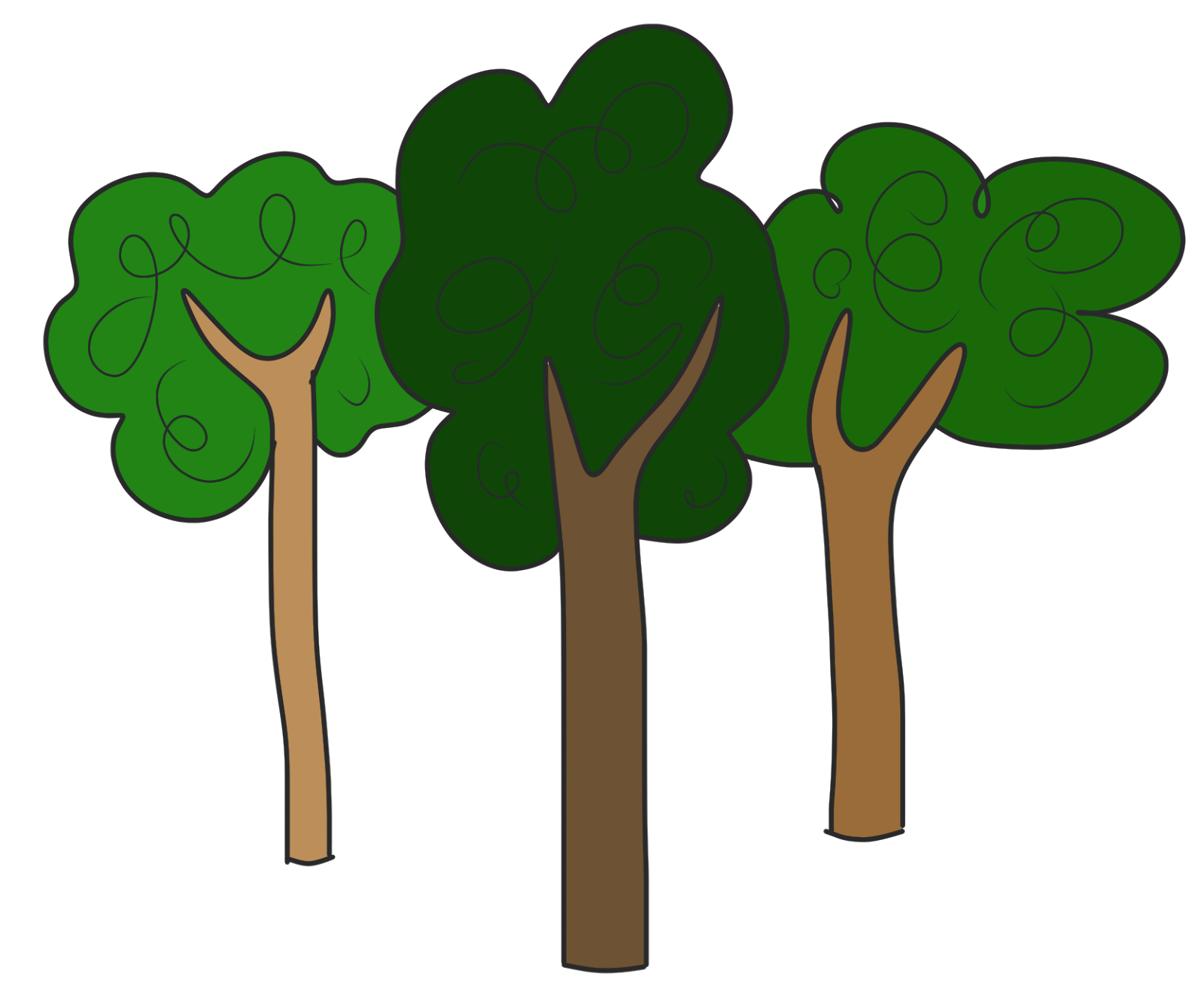Wilderness clipart group tree Clipartix trees clipart free clipart