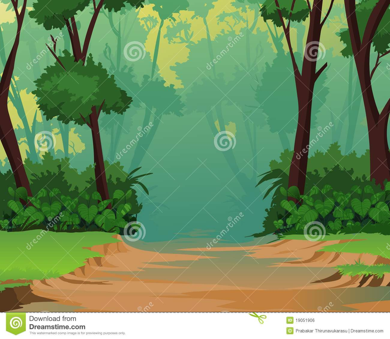 Scenery clipart jungle scenery #1