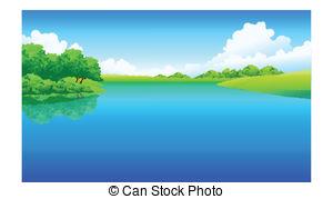 Scenery clipart lake #6