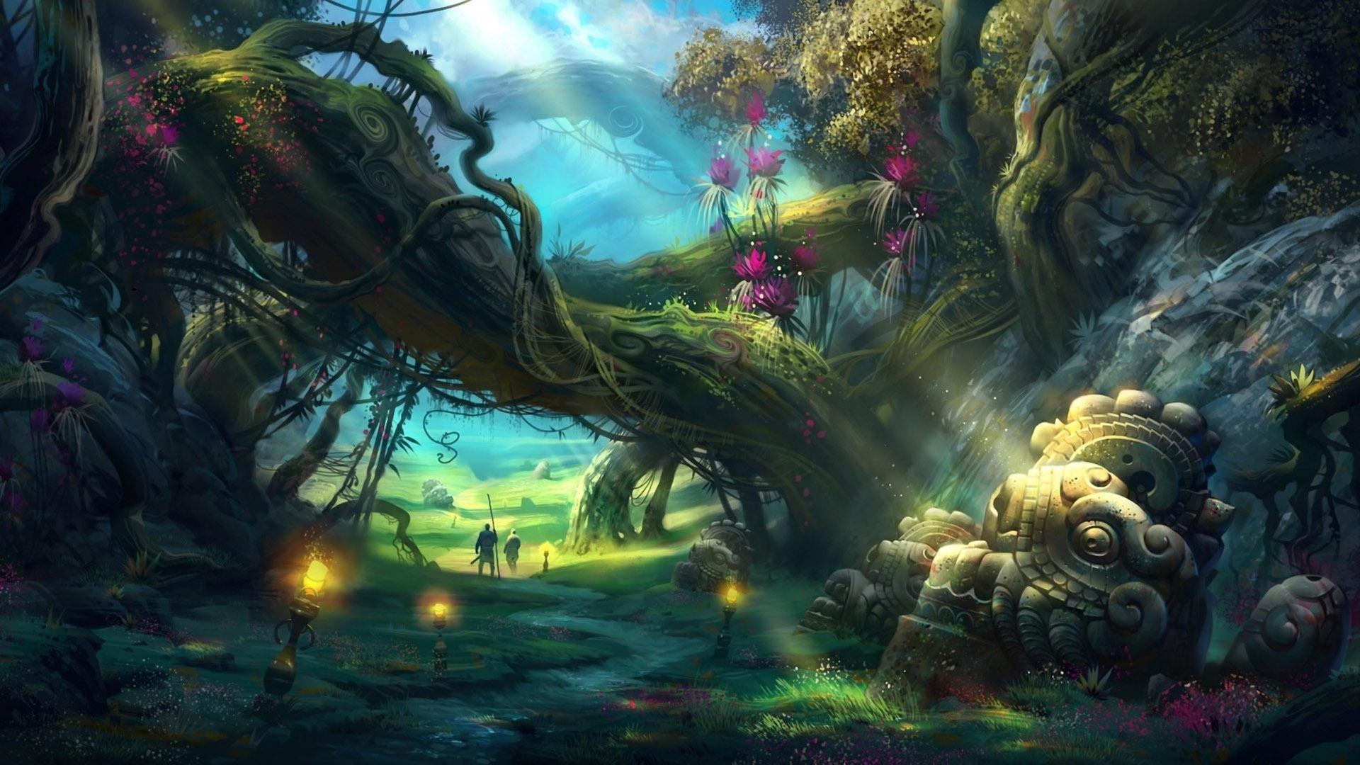 Fantasy clipart enchanted tree Wallpaper Adventures Wallpaper THIS Widescreen