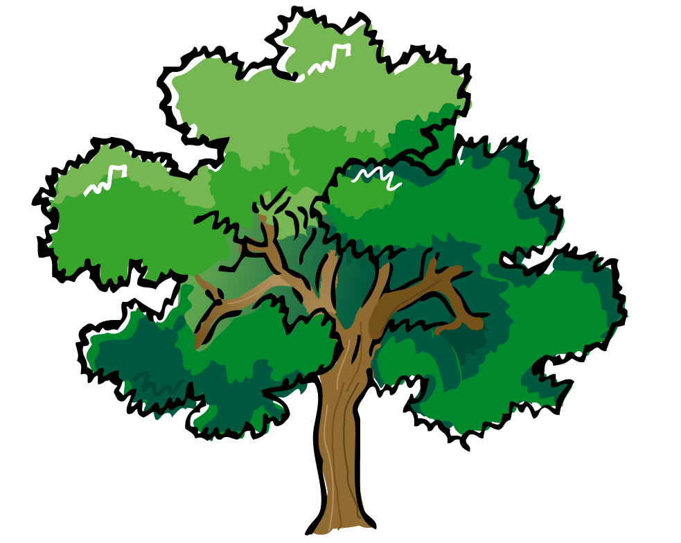 Tree clipart forest tree #1