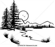 Pine Tree clipart forest scene Tree Forest Find and Tree