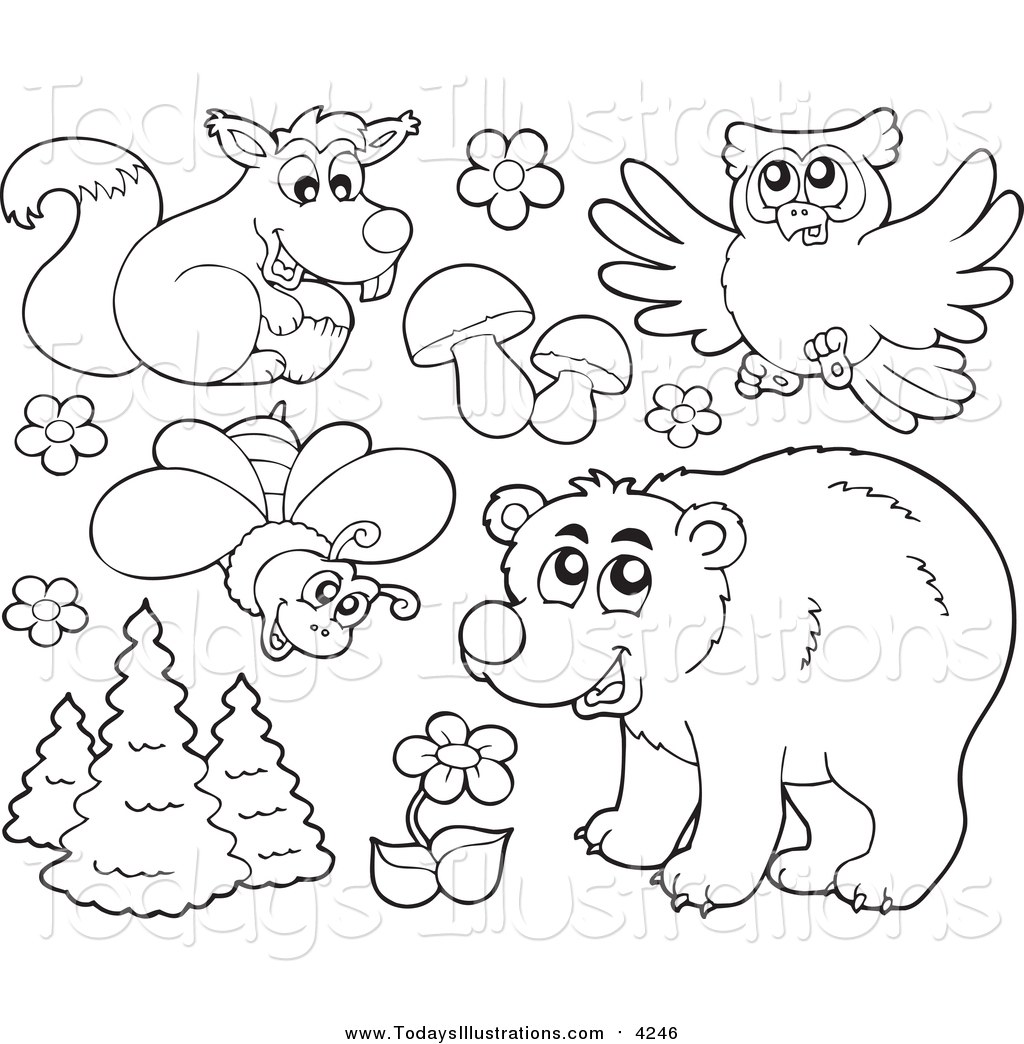 Forest clipart plants and animal Of Plants Stock Royalty Forest