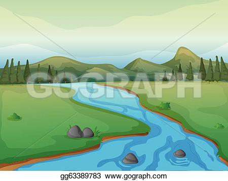 Forest clipart river drawing #9