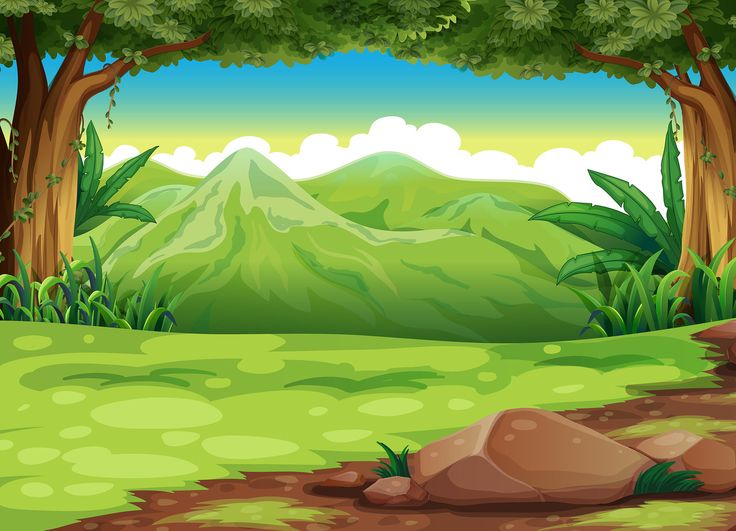 Scenery clipart jungle scenery #4