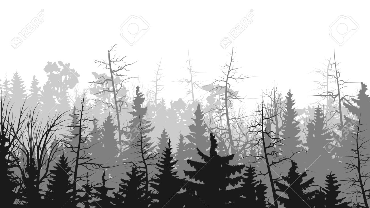 Forest clipart skyline Black forest outdoor and