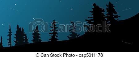 Forest clipart skyline Skyline Night Clip Art Download