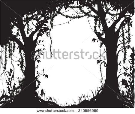 Forest clipart skyline Pinterest thicket fairytale silhouette deep
