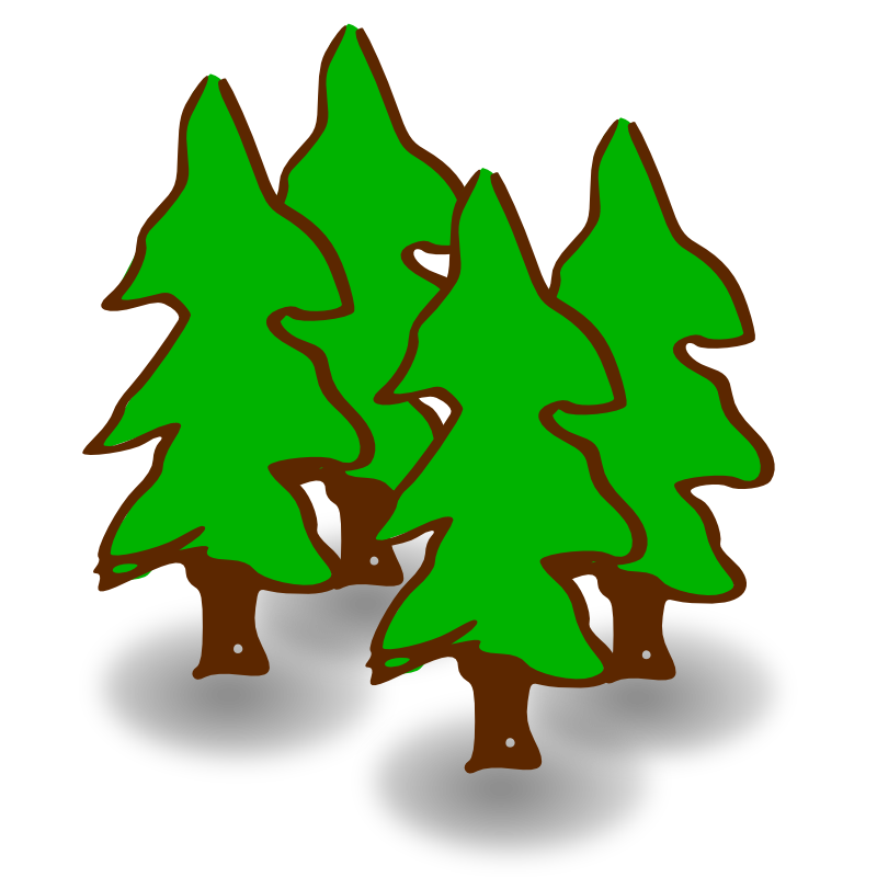 Pine Tree clipart forest scene Forest 9 Top Image Art