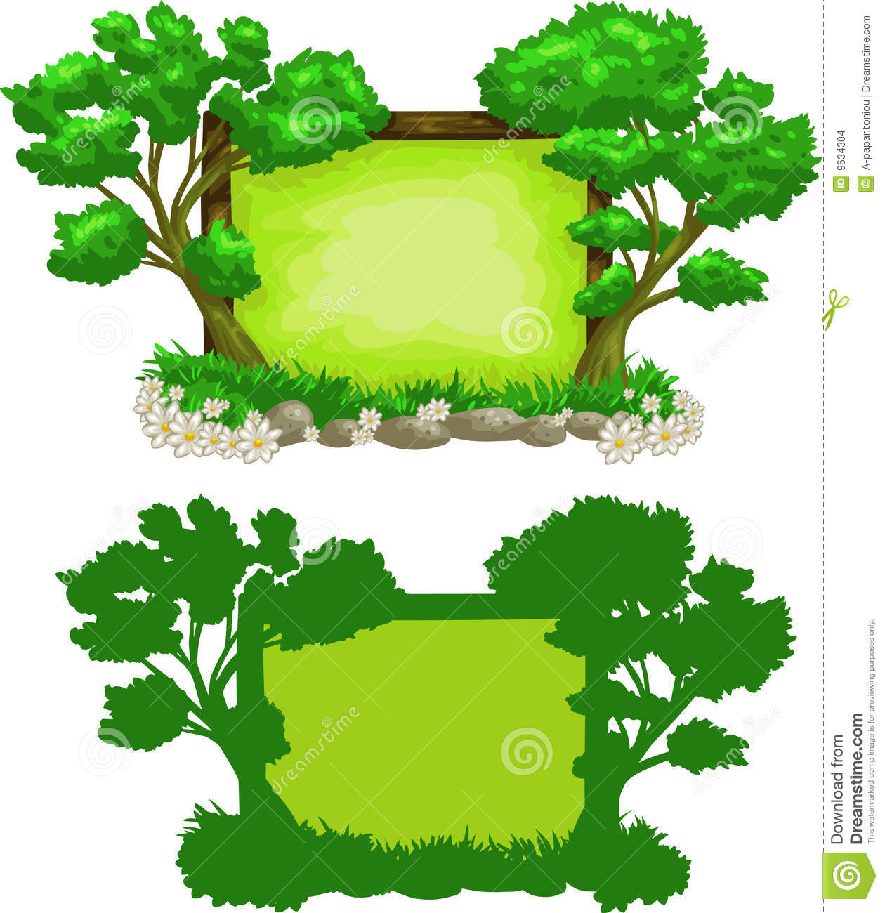 Tree clipart forest tree Forest Landscape summer Forest