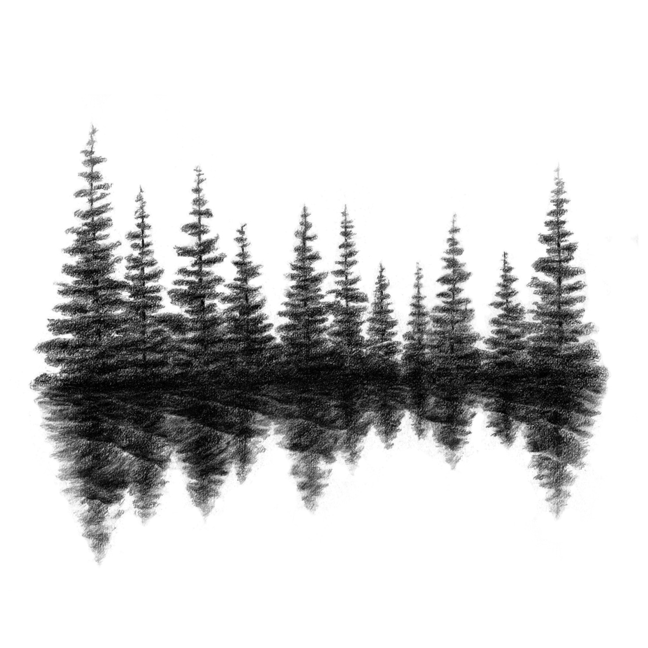 Pine clipart tree line Tree Silhouette Embroidery Evergreen Tree