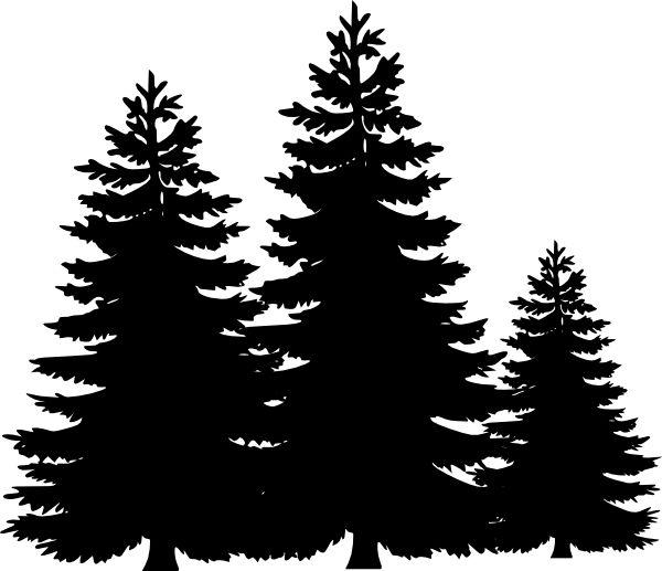 Pine Tree clipart forest tree Google tree silhouette Pinterest Best