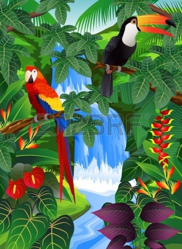 Savannah clipart tropical forest #1