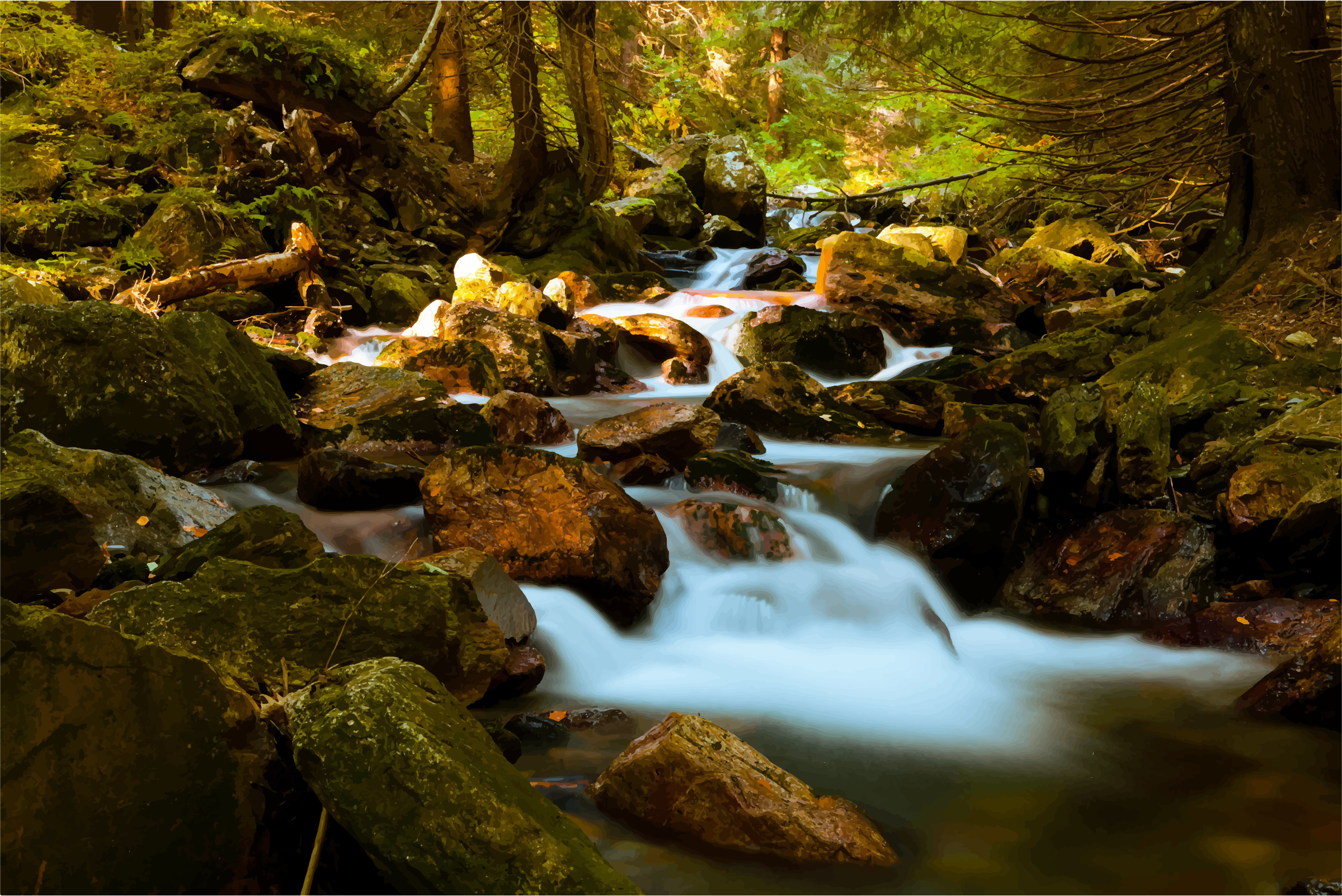 Forest clipart water stream In Stream Forest Mountain Stream
