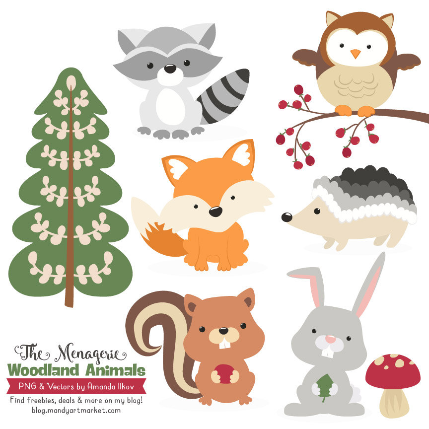 Rabbit clipart forest animal #3