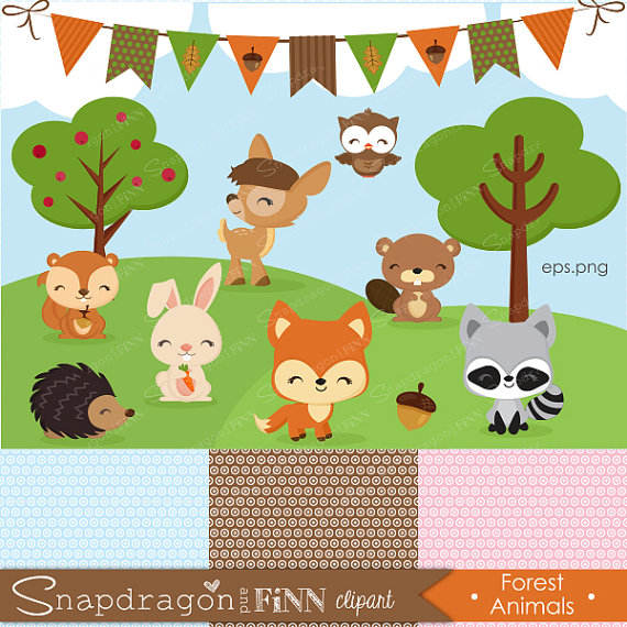 Baby Animal clipart woodland Is Animal Forest  digital