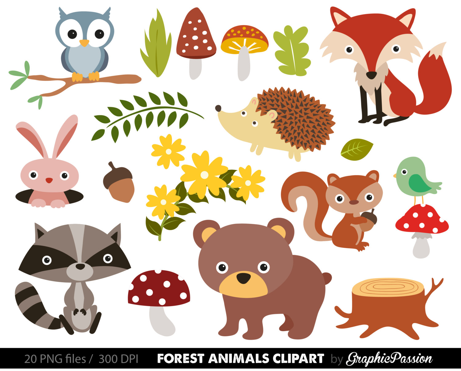 Baby Animal clipart woodland Woodland Free Clipart Clip