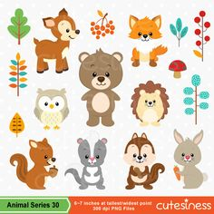 Baby Animal clipart woodland Clipart Woodland Clipart Animals Animal