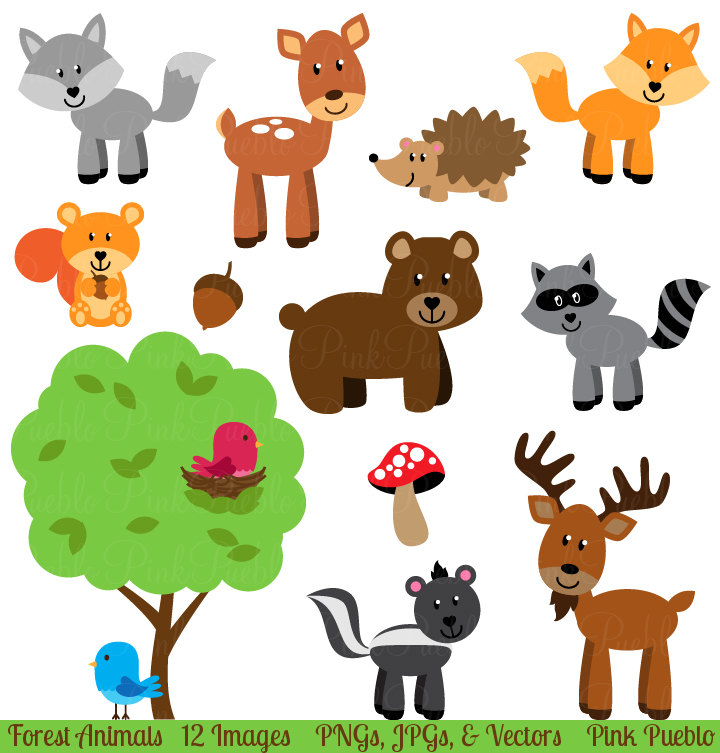 Wood clipart woodlands Forest Art Animal Clip Clipart