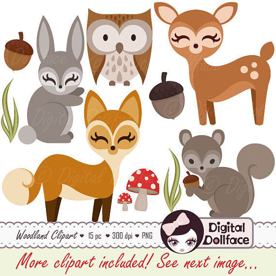 Rabbit clipart forest animal #1
