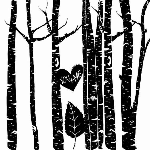 Branch clipart birch Tree  Silhouettes Winter Forest