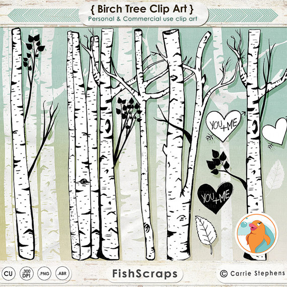 Branch clipart birch Tree Tree Silhouettes  Birch