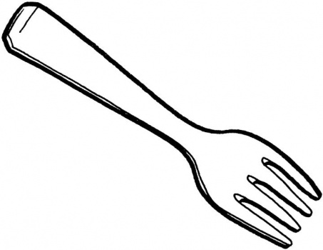 Fork clipart Com words fork and basic