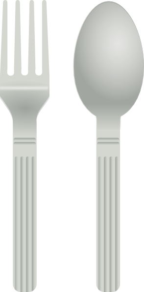 Fork clipart metal spoon Download Clker royalty clip at