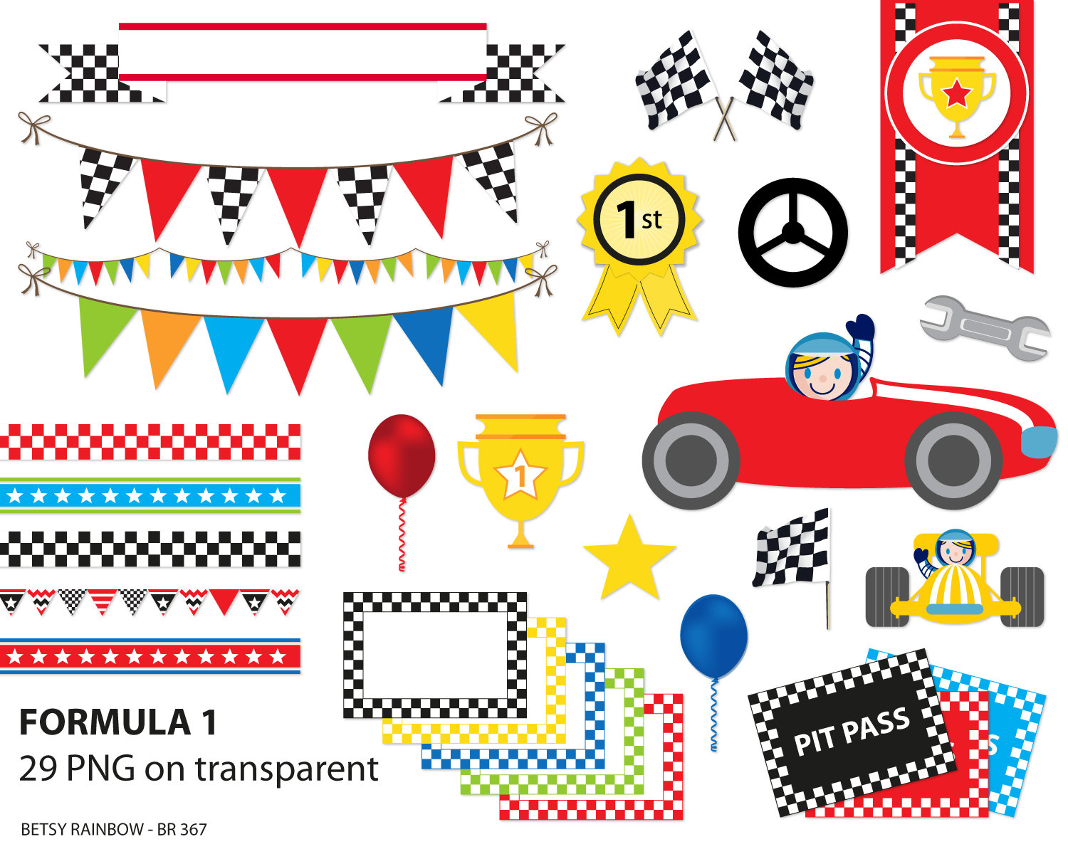 Formula 1 clipart car side Clipart  file pack 1