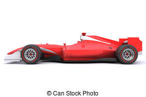 Formula 1 clipart car side Side and 135 Formula1 Stock
