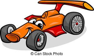 Formula 1 clipart cartoon Cartoon  car Cartoon racing
