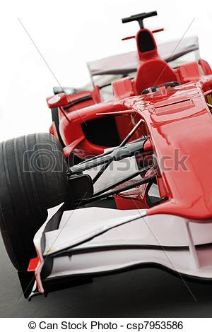 Formula 1 clipart fast car Stock model 1 red red