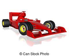 Formula 1 clipart ferrari 3d f1 Stock of art
