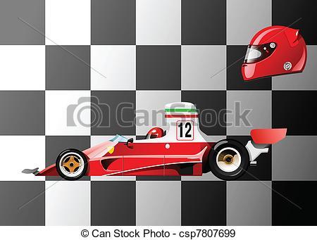 Ferarri clipart racing car Vector 1 of EPS illustration