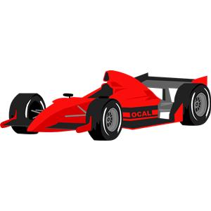 Formula 1 clipart race car One clipart Car download eps