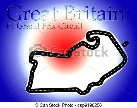 Formula 1 clipart race track Silverstone UK Circuit Britain Silverstone