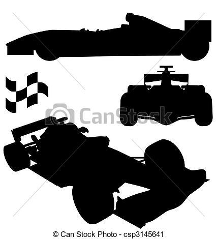 Race Car clipart silhouette 1 1 Vector Vector formula