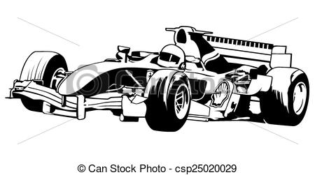 Formula One clipart racetrack 118 one Formula Illustration Black