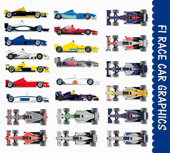 Formula 1 clipart car side One One Art Race Download