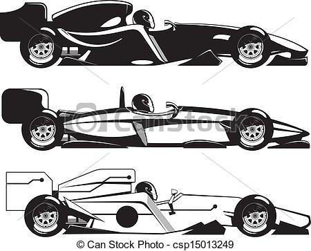 Formula 1 clipart race car 1 1 of 1 Vector