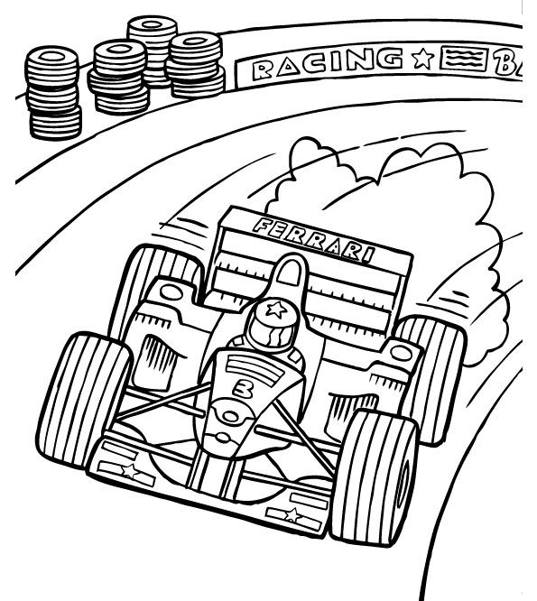 Formula 1 clipart race track Page Car car Coloring 1