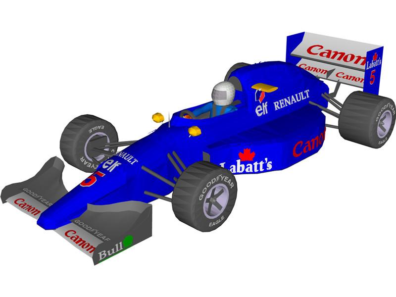 Formula 1 clipart indy car Indy 3D 3D Download CAD