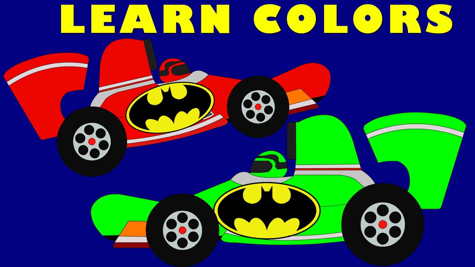 Formula One clipart kid car Learn Batman Kids Colors Racing
