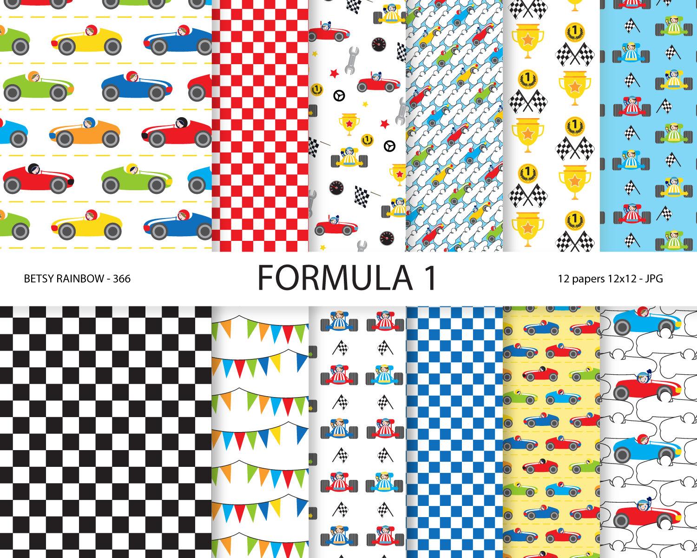 Formula One clipart kid car Race 1 racing Formula Digital