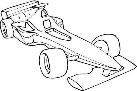 Formula One clipart kid car Coloring coloring Coloring Pages page