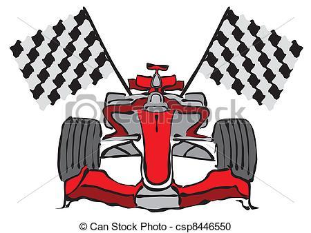 Formula One clipart race car Car Vector csp8446550 Clipart Formula