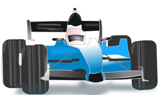 Blue clipart racing car Clip Car Free Public Blue