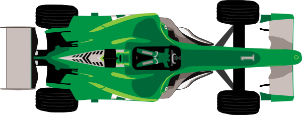 Race Car clipart green At  Formula clip vector