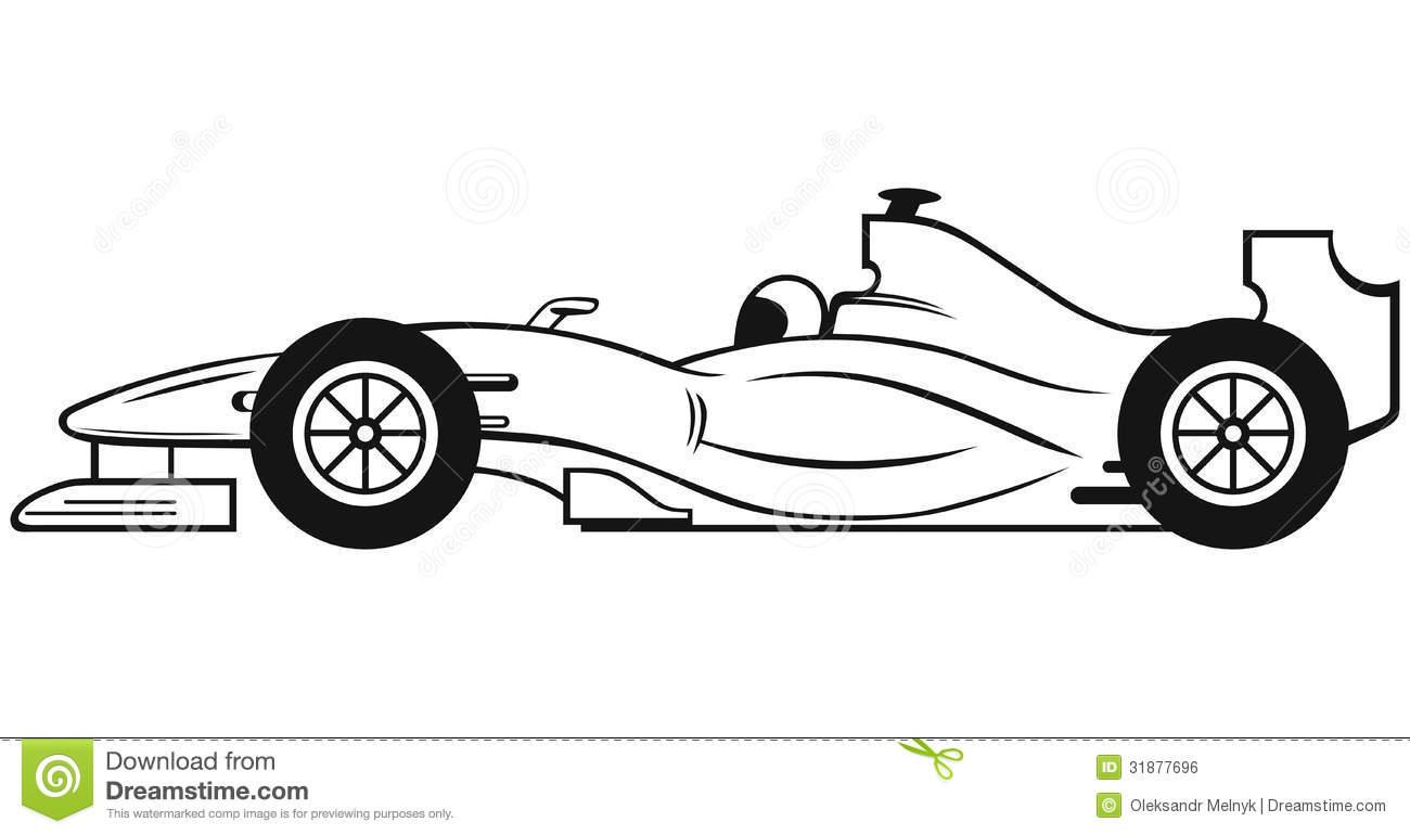Formula 1 clipart race car Clipart Car Outline Racing :